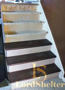 Обшить бетонную лестницу дубом