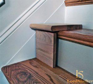 Отделка лестницы из бетона деревом