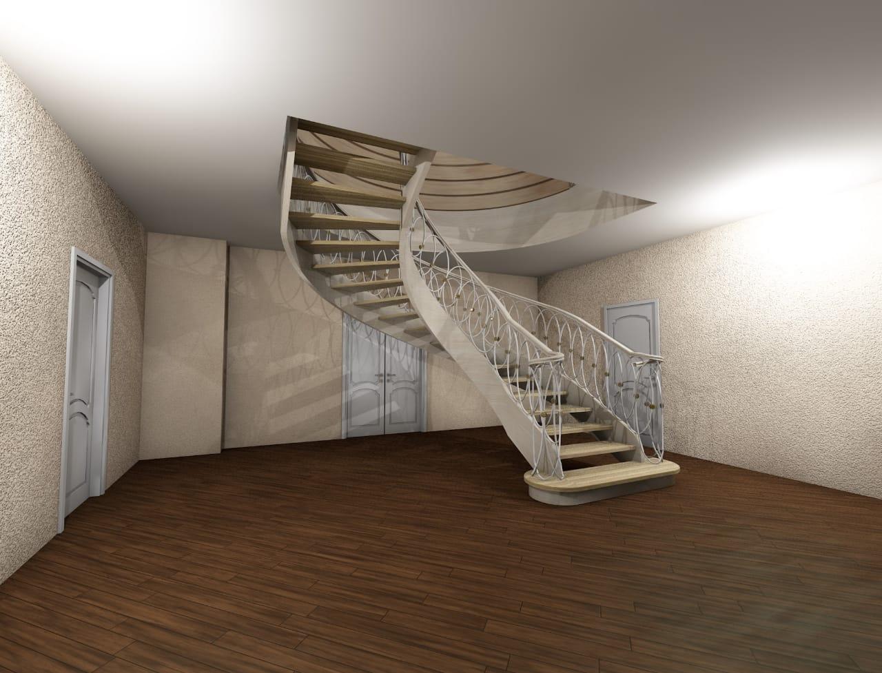 3d дизайн лестницы