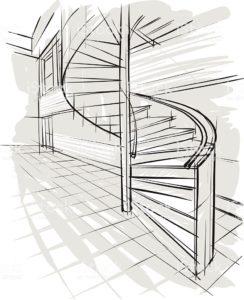 Проект лестницы на второй этаж в частном доме