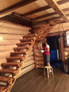 Лестница в доме на второй этаж - Мытищи